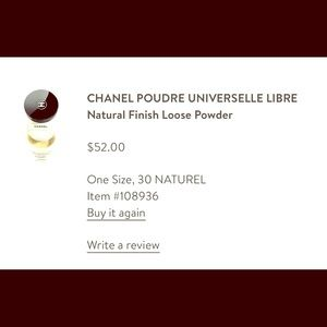 Chanel natural face powder